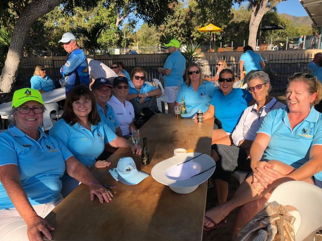 WWSA members having a catch up at the SICYC get together at Cape Gloucester.